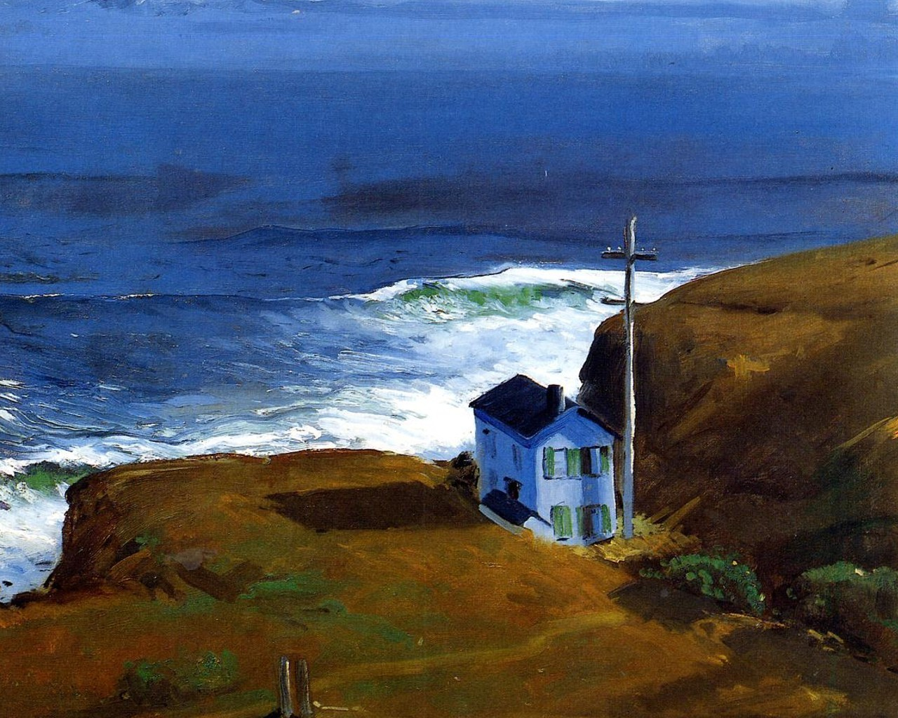 Shore House George Bellows , HD Wallpaper & Backgrounds