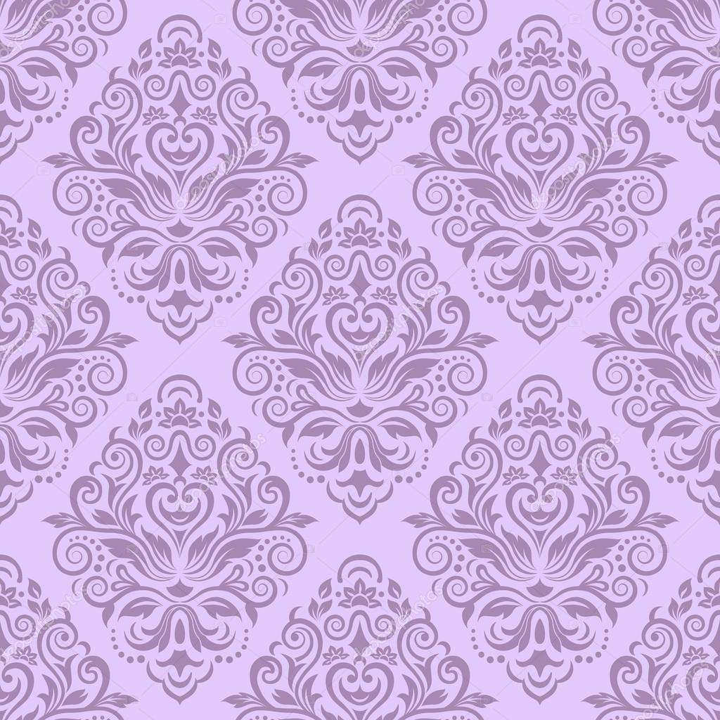 Seamless Damask Pattern For Wallpaper Design Stock - Printed Background Pink , HD Wallpaper & Backgrounds
