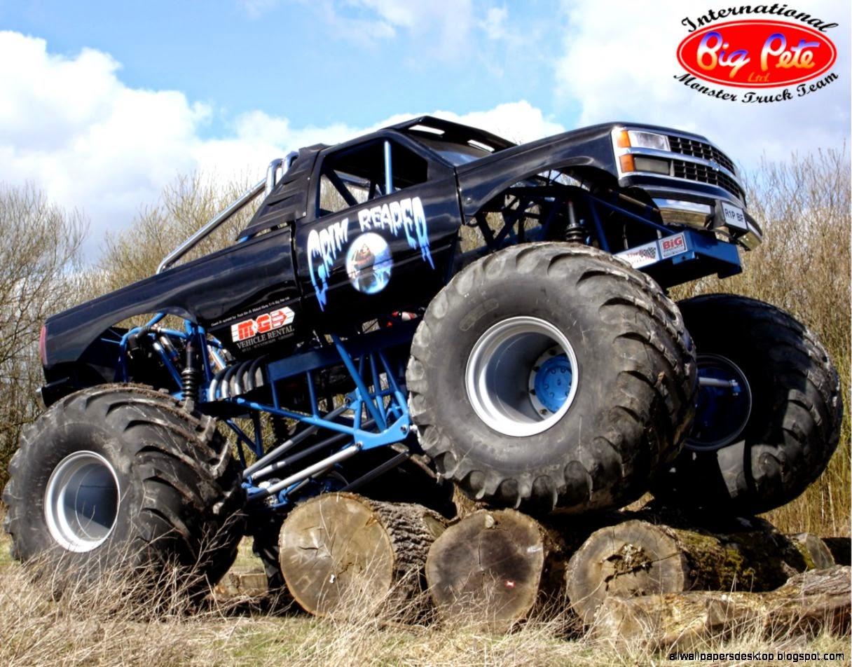 Monster Trucks Wallpaper Wallpapers Monster Truck Grim - Monster Truck Wallpaper Hd , HD Wallpaper & Backgrounds