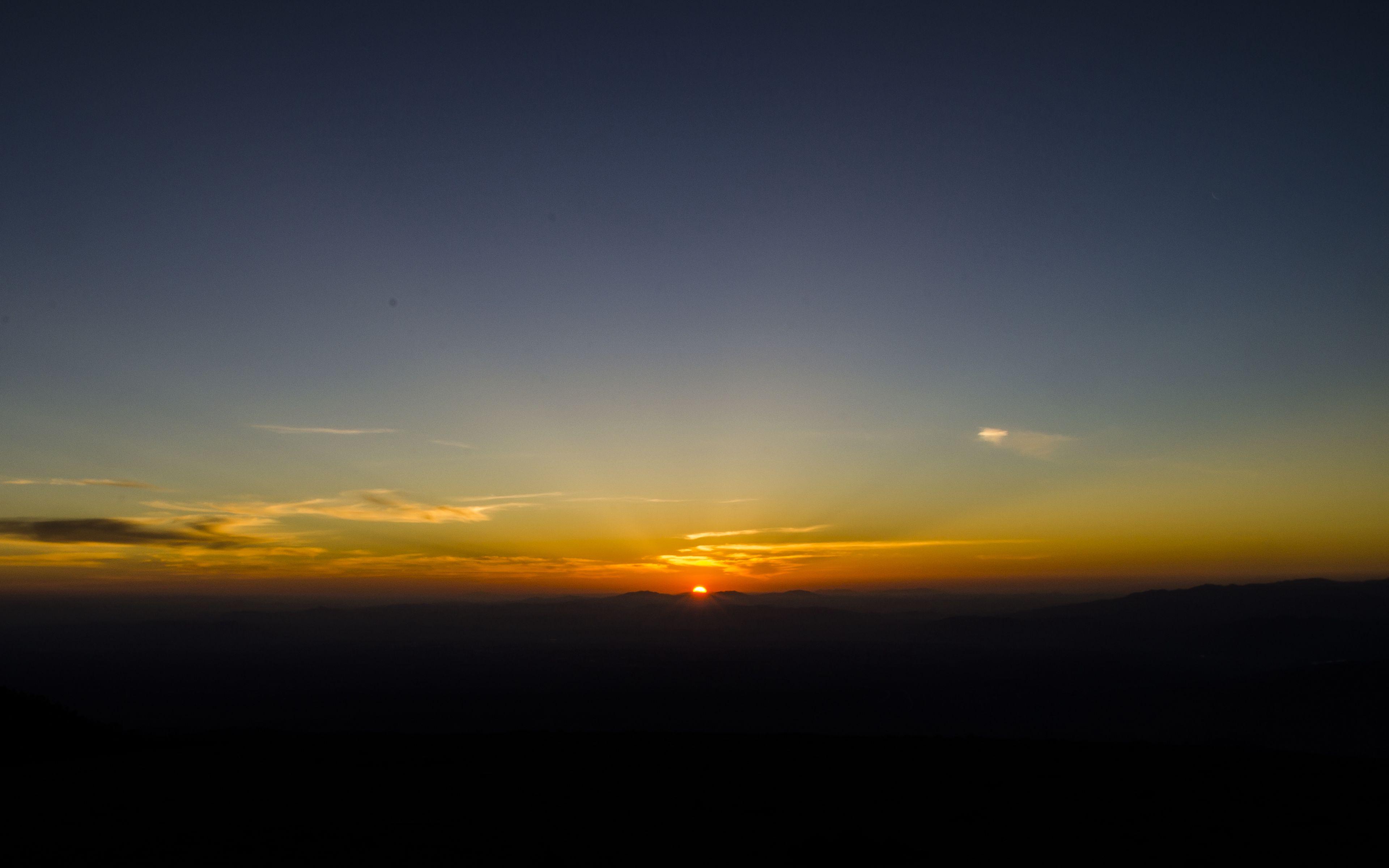 Wallpaper Dawn, Horizon, Mountains, Sun, Sky, Dark, - Red Sky At Morning , HD Wallpaper & Backgrounds
