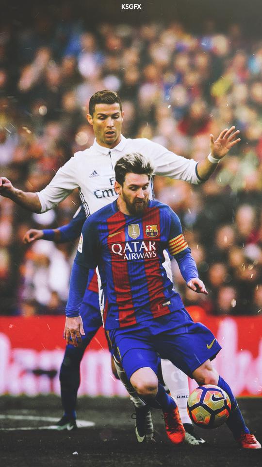 Messi And Ronaldo Wallpaper - Cristiano Ronaldo And Lionel Messi , HD Wallpaper & Backgrounds