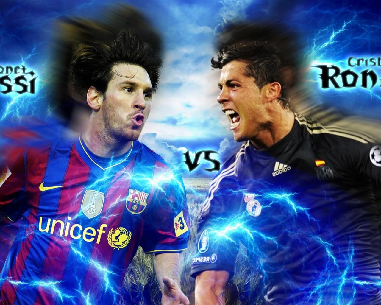 Lionel Messi Vs Cristiano Ronaldo Wallpaper In Adobe , HD Wallpaper & Backgrounds