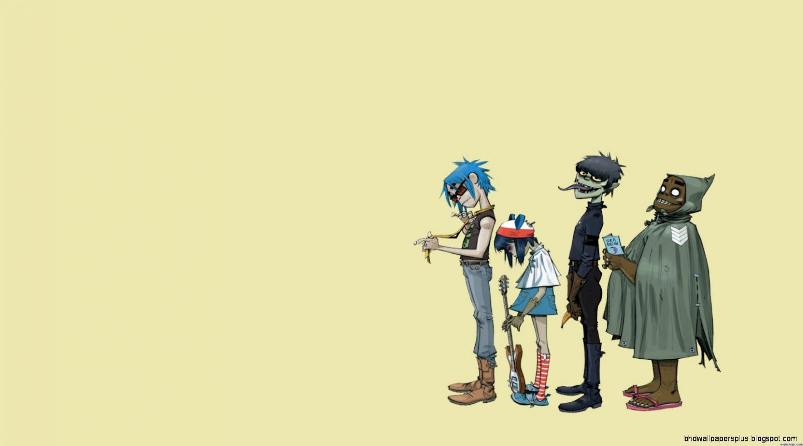 Gorillaz Hd Wallpapers And Backgrounds - Gorillaz Noodle Grown Up , HD Wallpaper & Backgrounds