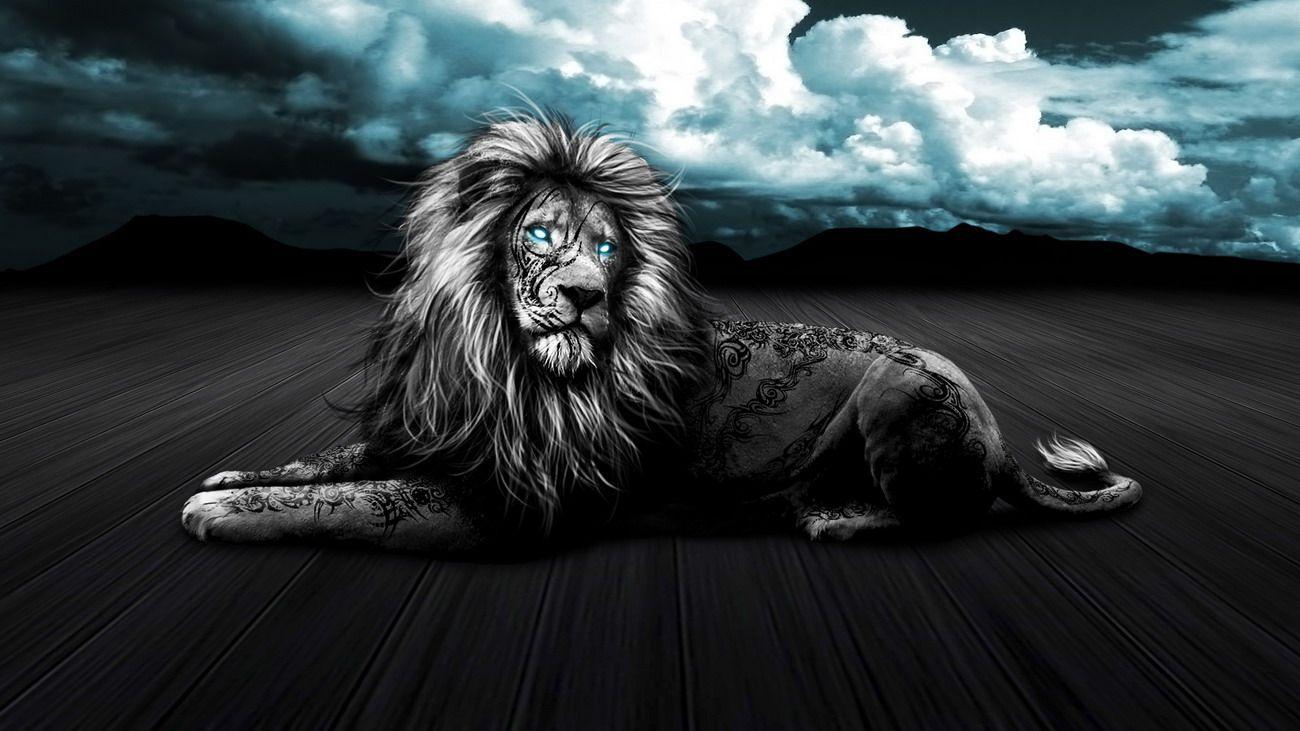 8589130411999 Lion With Tattoo Wallpaper Hd Black Lion Hd Wallpaper Download 3197935 Hd Wallpaper Backgrounds Download
