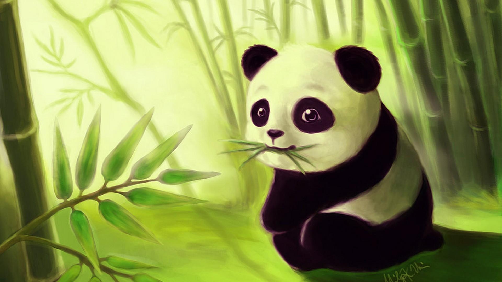 Cartoon Cute Panda Wallpaper Hd