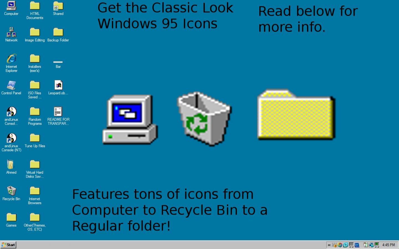 Windows 95 Wallpaper Windows 95 Icons For Windows 10