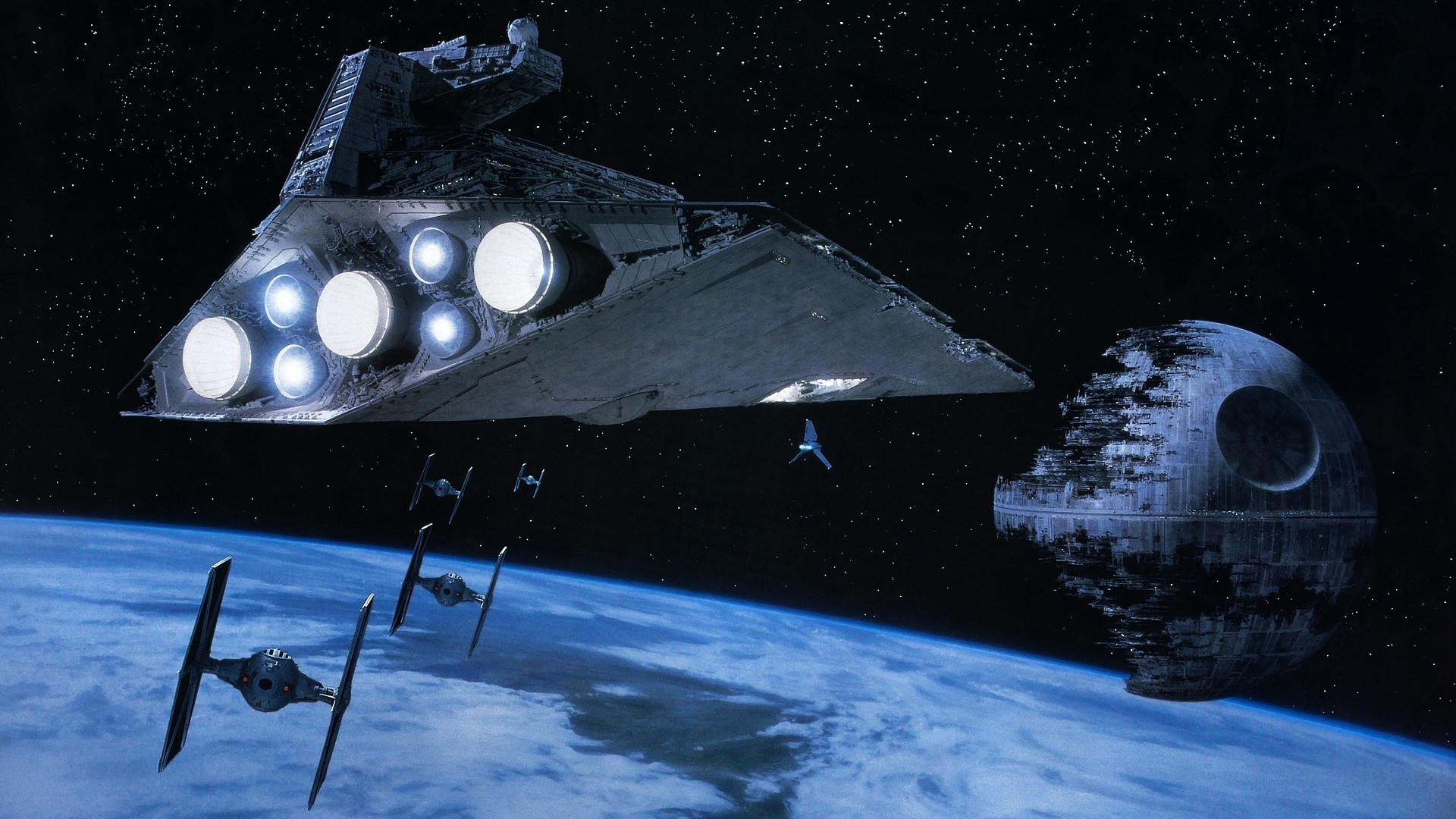 Star Wars Star Destroyer Tie Fighter Death Star Tie Fighter Star Destroyer 323938 Hd Wallpaper Backgrounds Download
