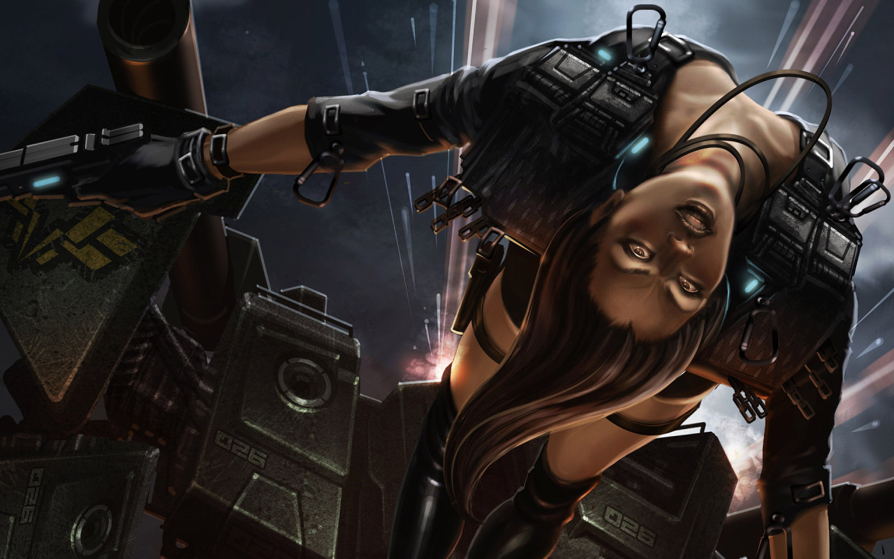 Download Cyberpunk Wallpaper 3d Anime Girl With