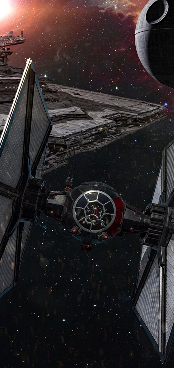 Death Star Hides It Pretty Good Dont You Think Tie Fighter Iphone 324669 Hd Wallpaper Backgrounds Download