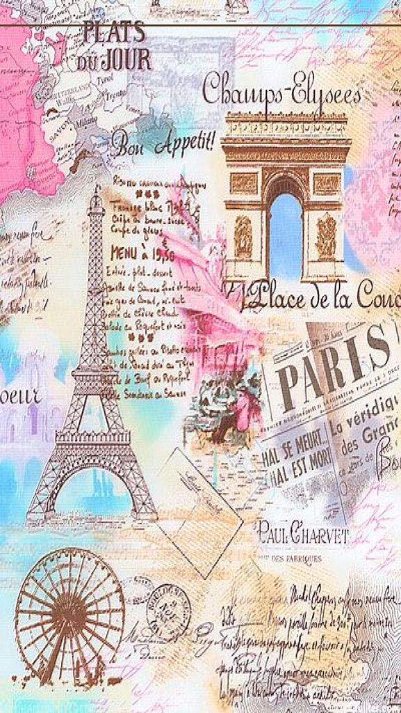Best 25 Paris Wallpaper Ideas On Pinterest - Vintage Paris Paper Background , HD Wallpaper & Backgrounds