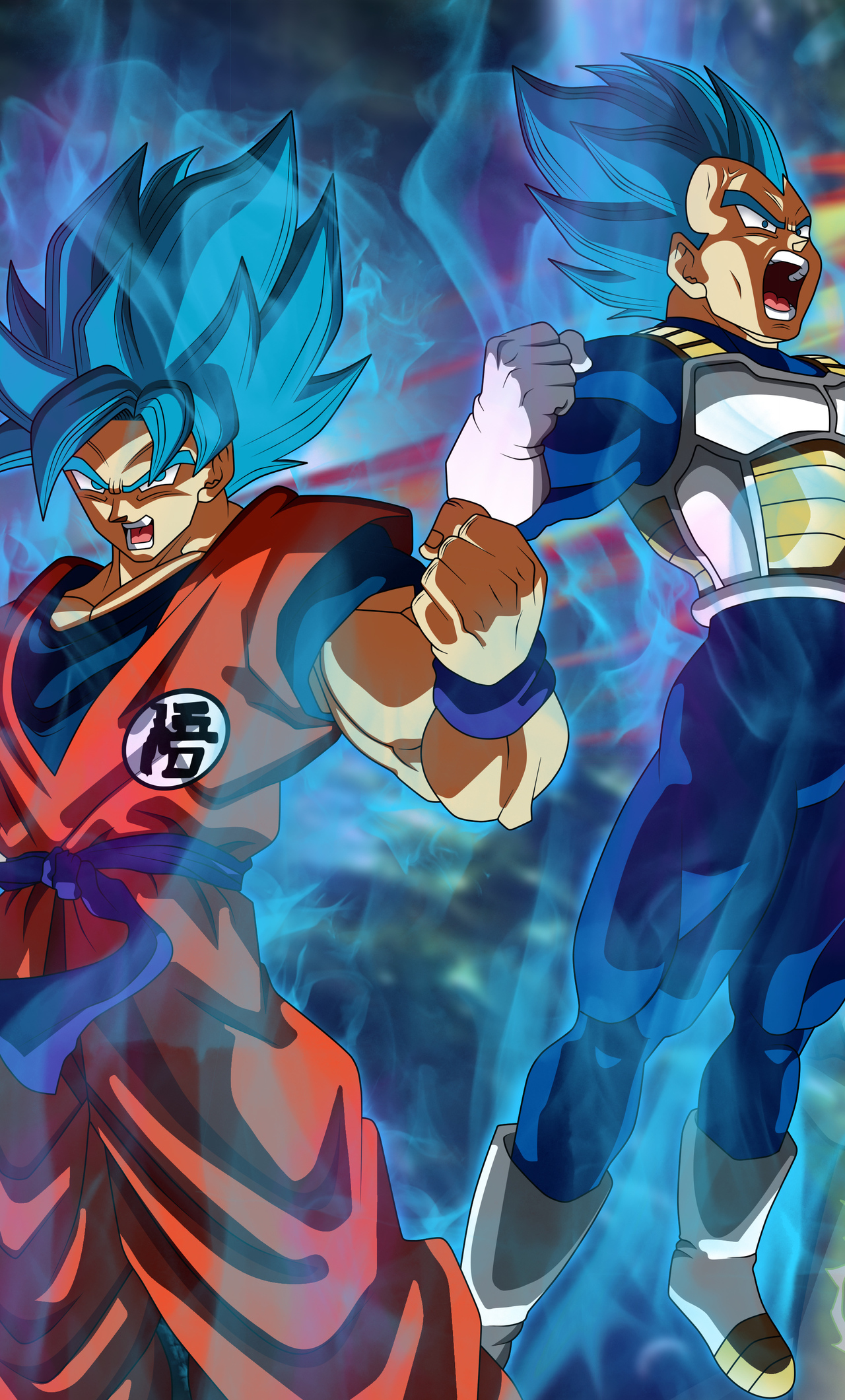 Iphone Goku And Vegeta Wallpaper 4k