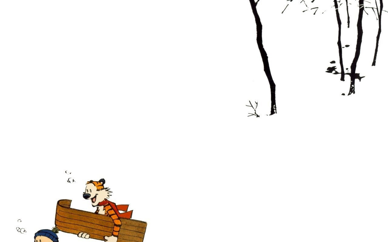 Widescreen Calvin And Hobbes Snow 325437 Hd Wallpaper