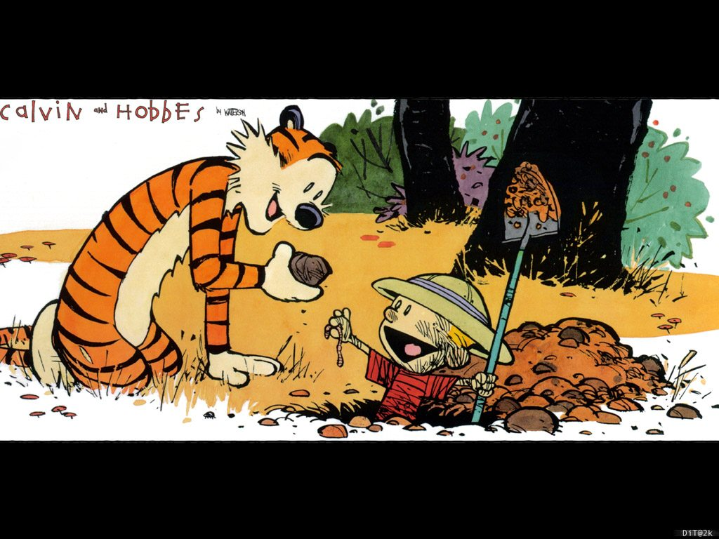 Calvin Und Hobbes Wallpaper Calvin And Hobbes Theres