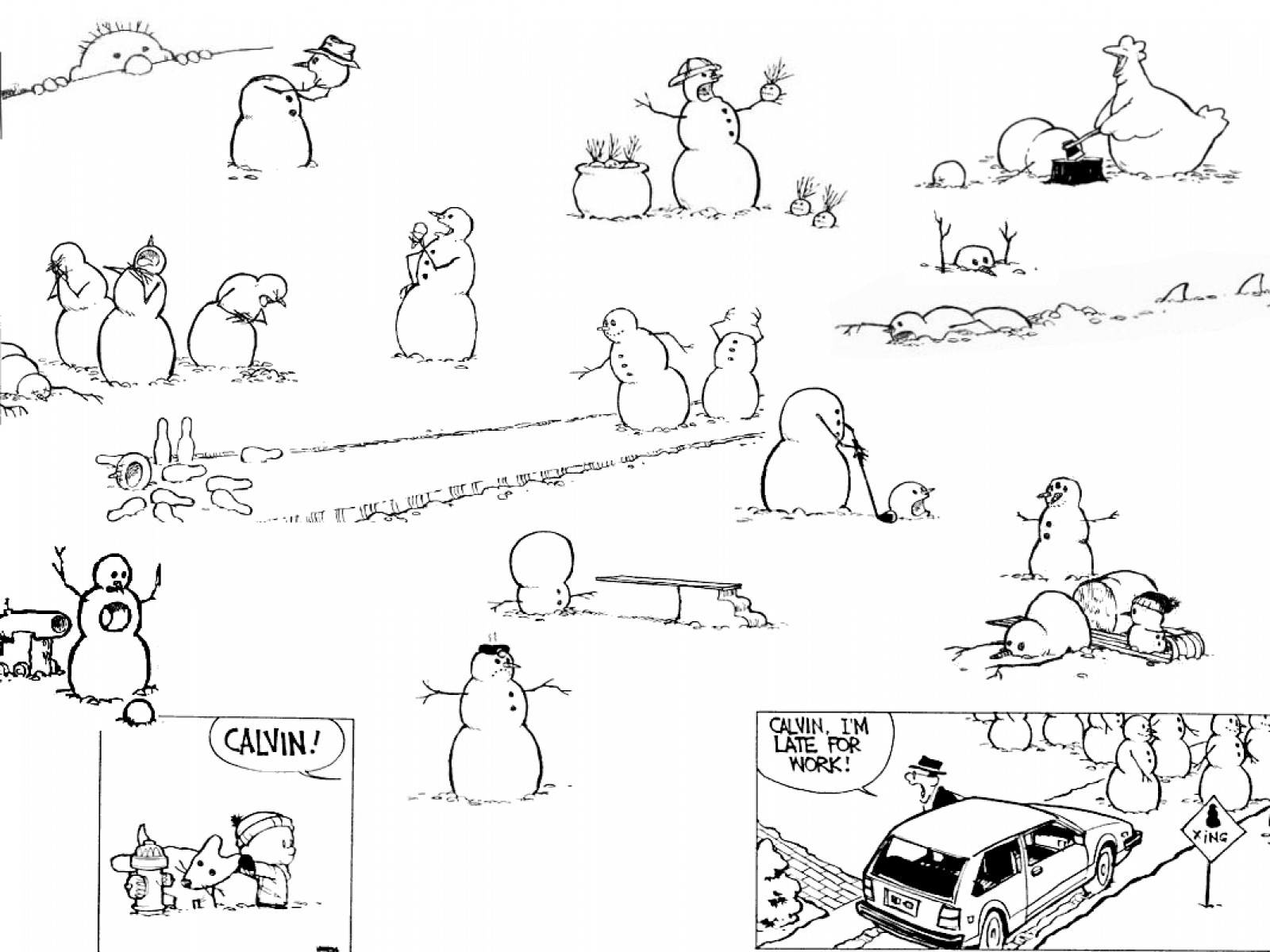 Calvin And Hobbes Snowman Wallpaper 4qy18m8 Calvin And Hobbes
