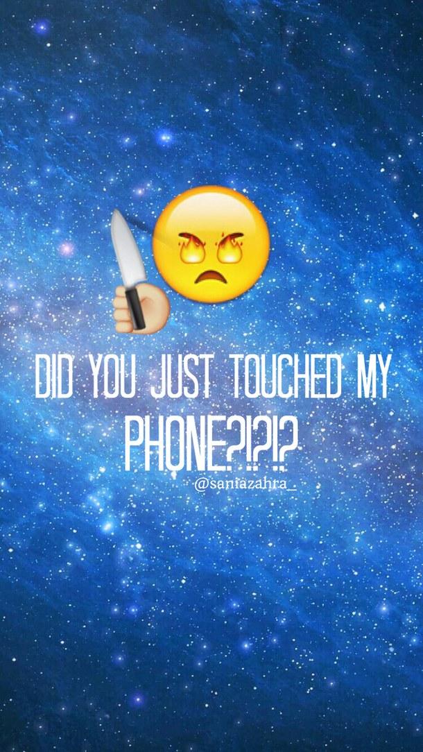 Clever Lock Screen Phone Wallpapers Blue Background Cute Emoji