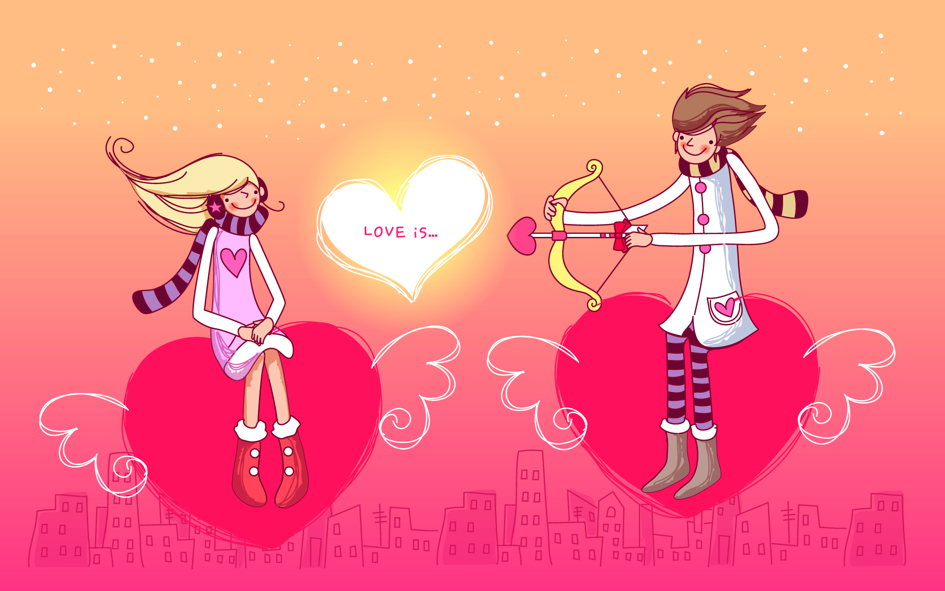 Valentine's Day Wallpapers - Cute Happy Valentines Day , HD Wallpaper & Backgrounds