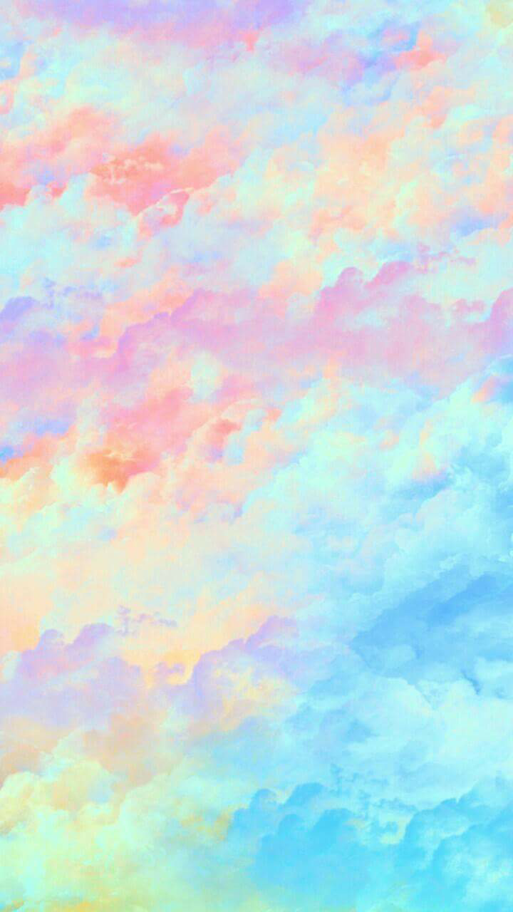 Wallpaper, Colorido, Clouds And Colorful - Watercolor Rainbow Cloud Background , HD Wallpaper & Backgrounds