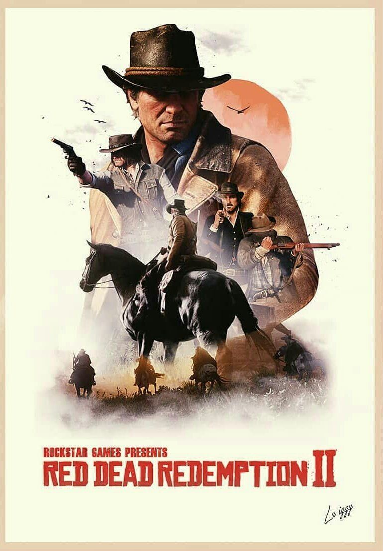 Artwork Red Dead Redemption 2 , HD Wallpaper & Backgrounds