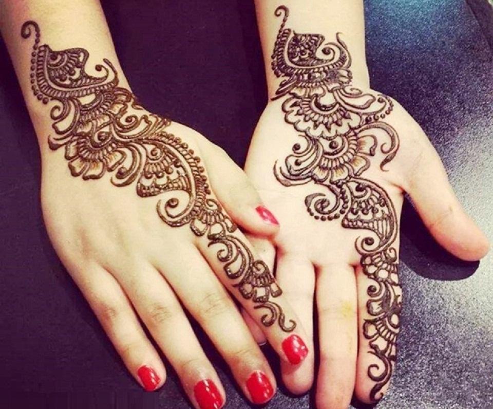 Arabic Mehndi Designs For Hand Simple - Simple Beautiful Mehndi Designs , HD Wallpaper & Backgrounds