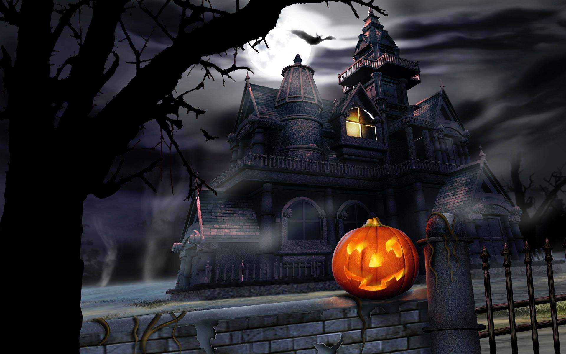 Hd Otife Free Halloween Animated Desktop Wallpaper - Animated Halloween Powerpoint Template , HD Wallpaper & Backgrounds
