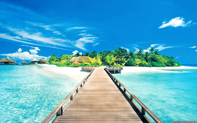 Tropical Beach Wallpaper Hd , HD Wallpaper & Backgrounds