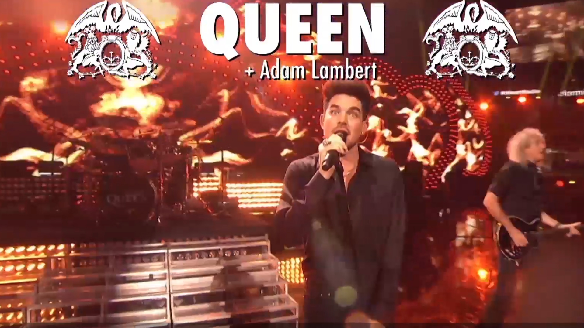 Queen And Adam Lambert O2 , HD Wallpaper & Backgrounds