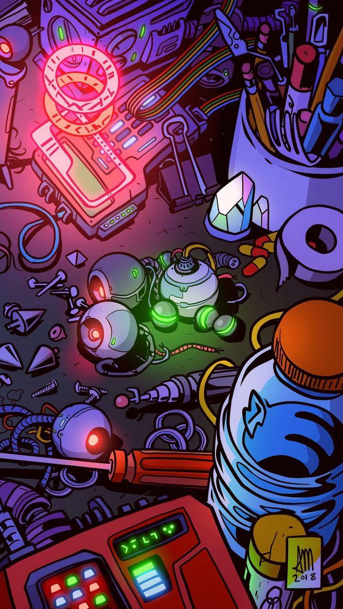 Cyberpunk Neon Wallpaper 4k 3230872 Hd Wallpaper Backgrounds Download