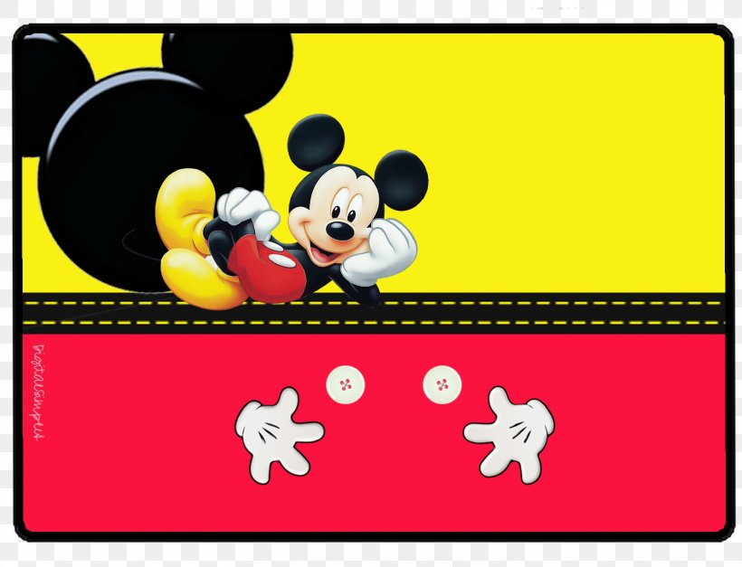 Yellow And Red Mickey Mouse Background , HD Wallpaper & Backgrounds