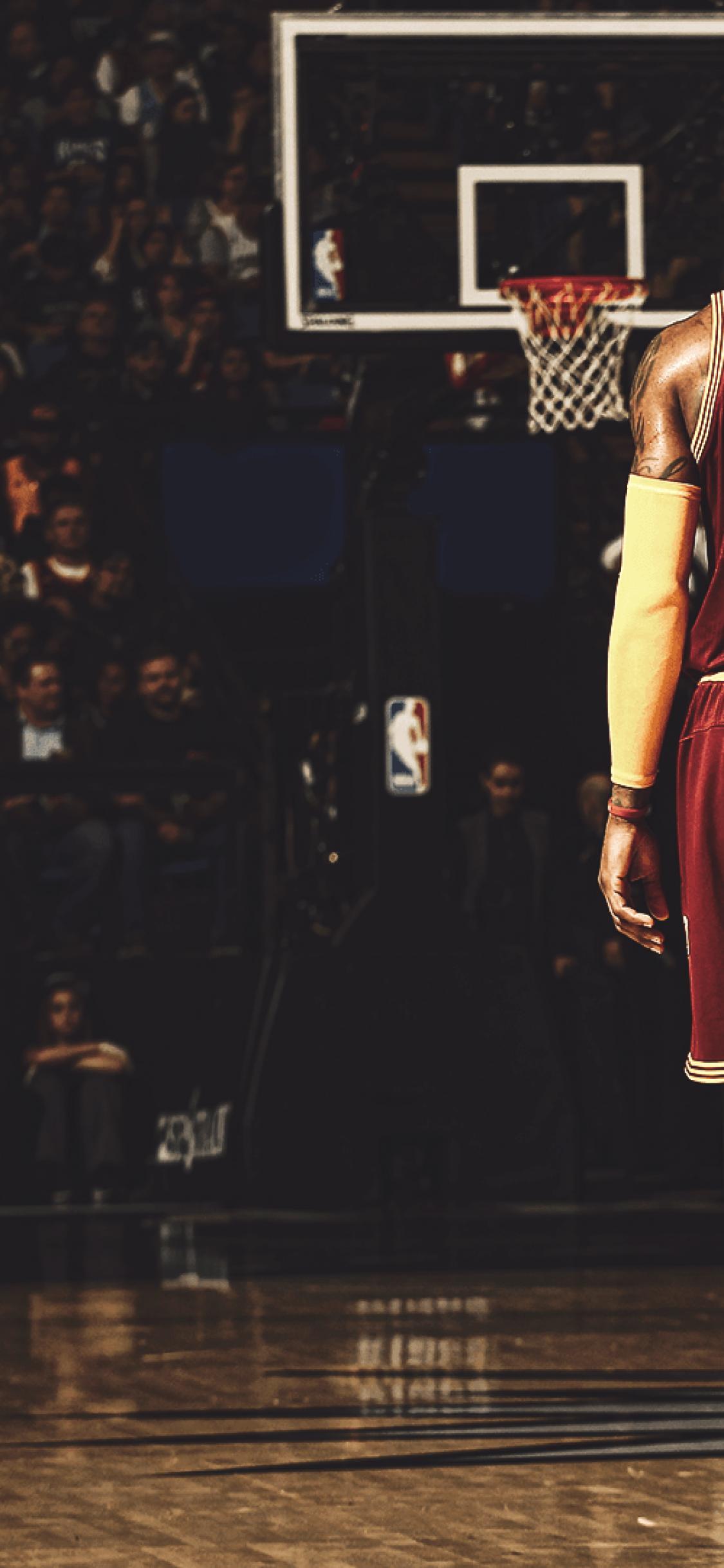Lebron James, Basketball Court - Iphone X Wallpaper Basketball , HD Wallpaper & Backgrounds