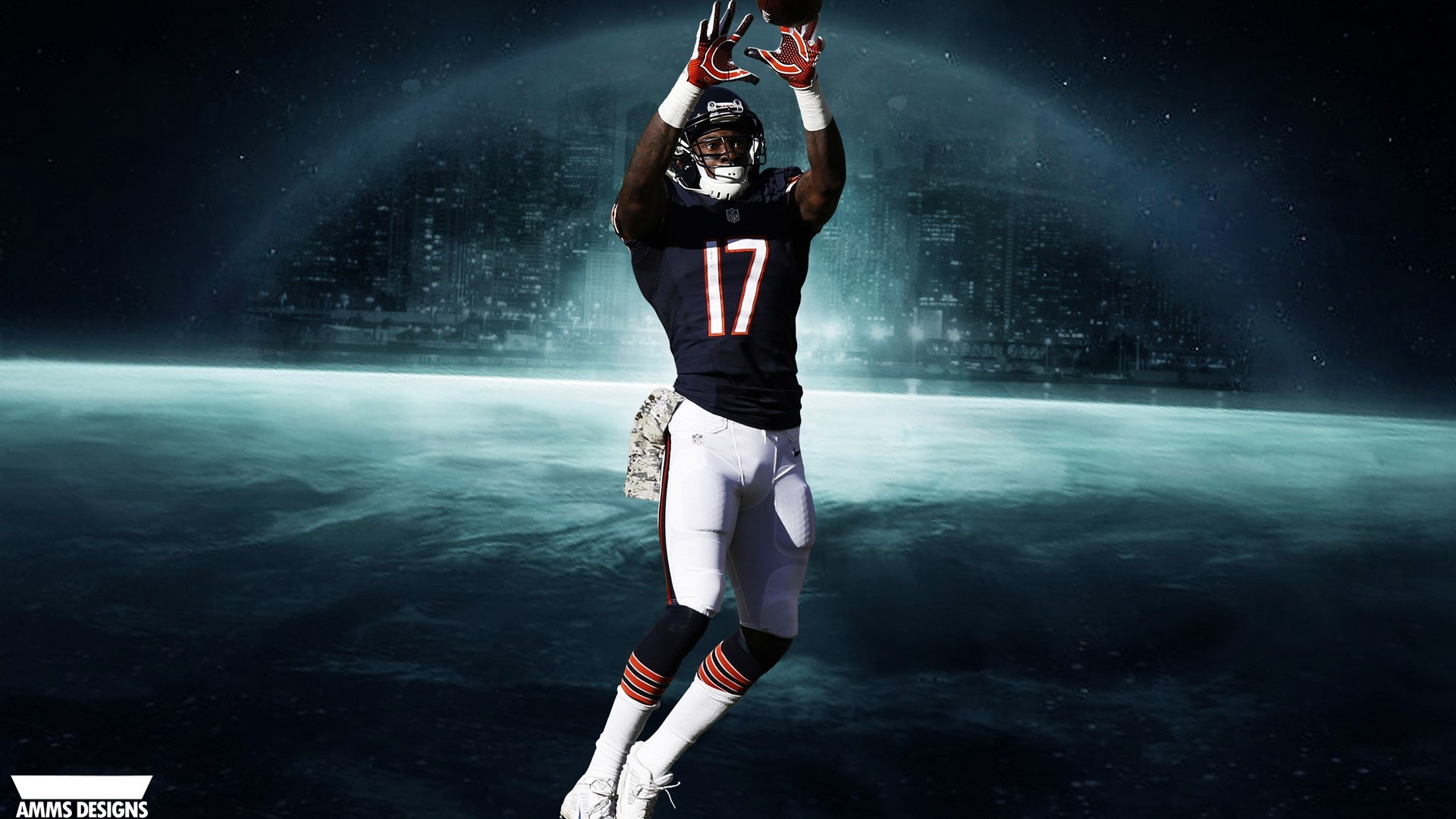 Chicago Bears Nfl Wallpaper Hd With High-resolution - Chicago Bears Iphone Wallpaper Hd , HD Wallpaper & Backgrounds