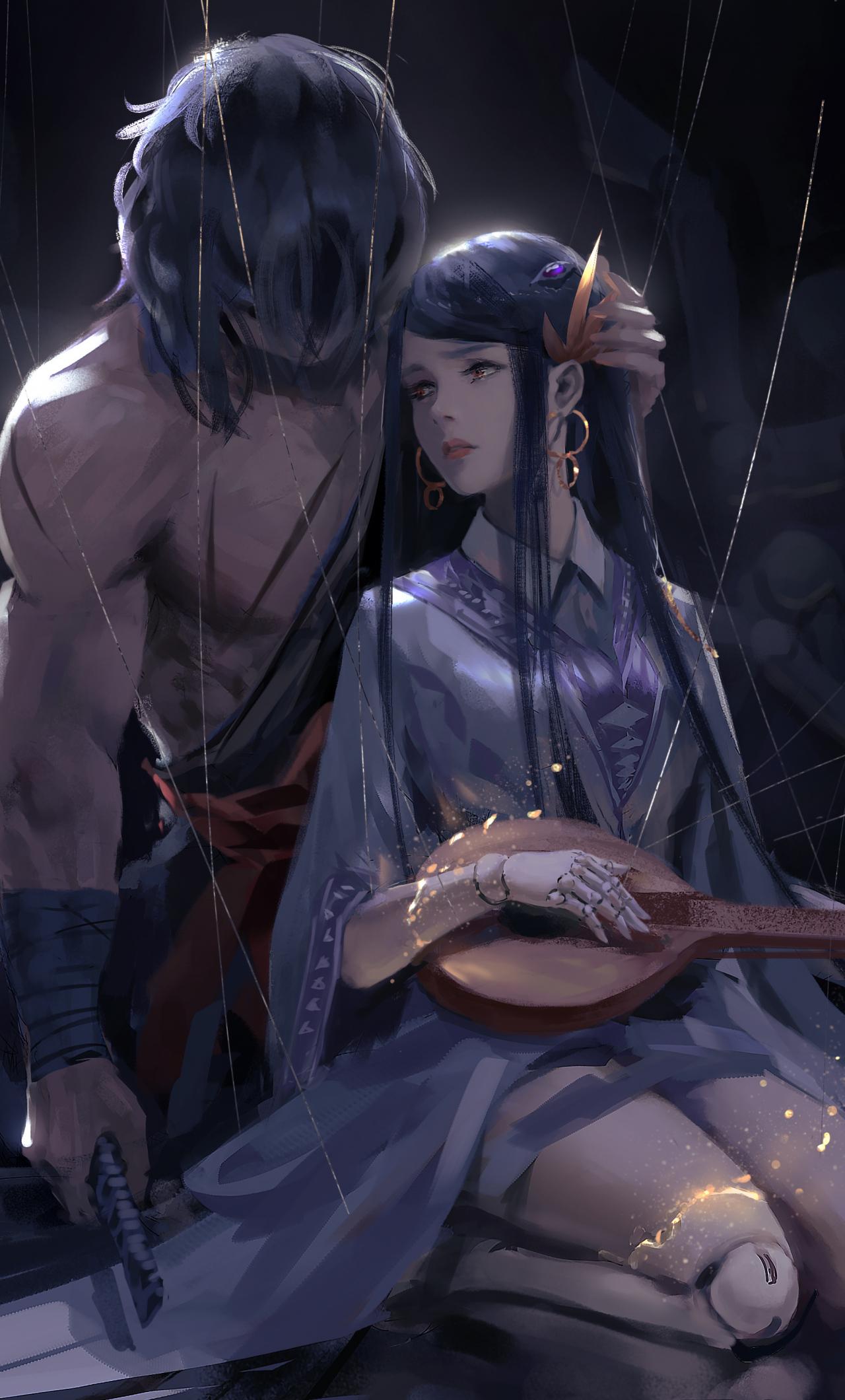 Fantasy Anime Girl Art , HD Wallpaper & Backgrounds