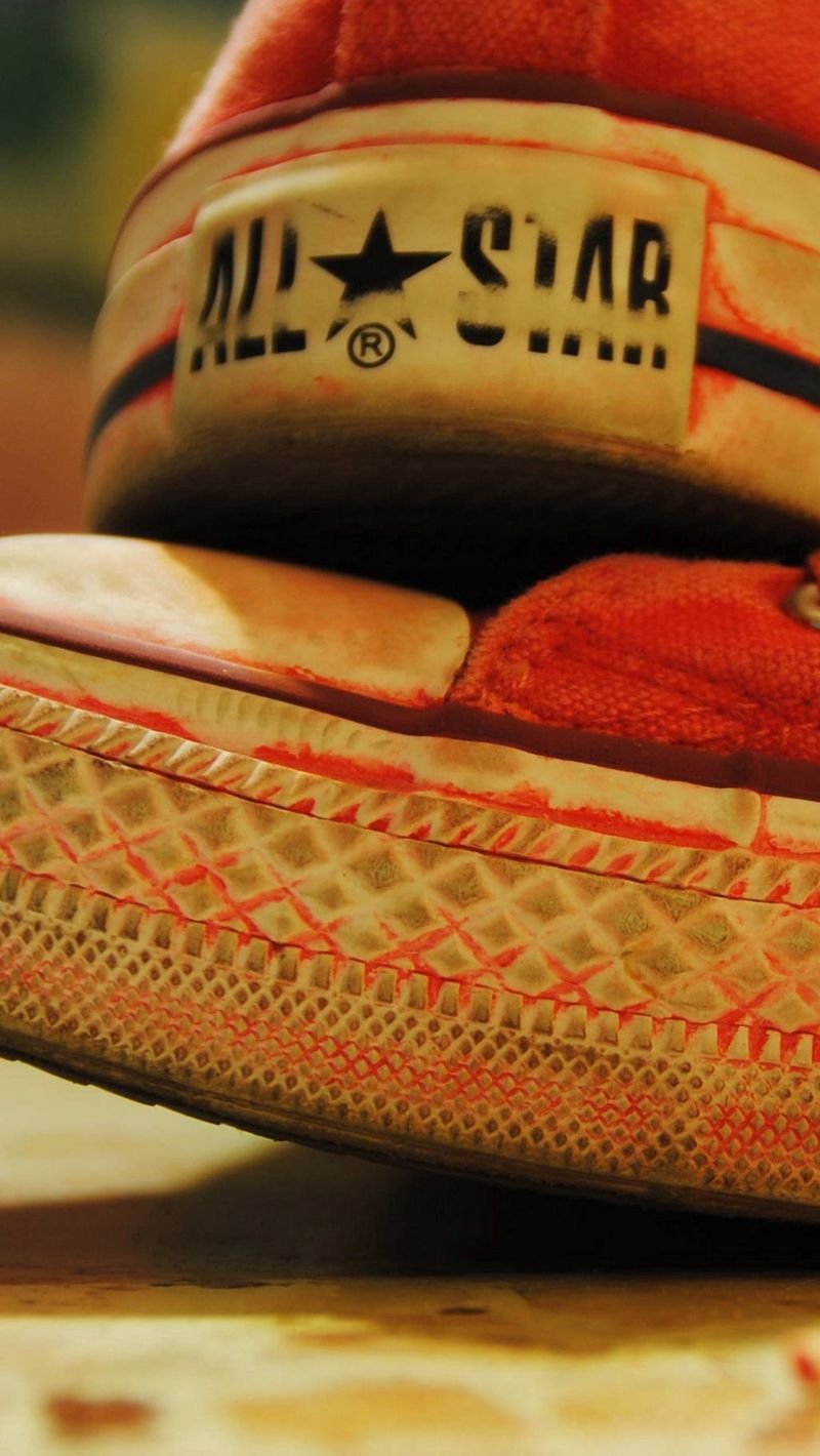 Wallpaper Sneakers, Old, Red, White, Sole - All Star Shoes Dirty , HD Wallpaper & Backgrounds