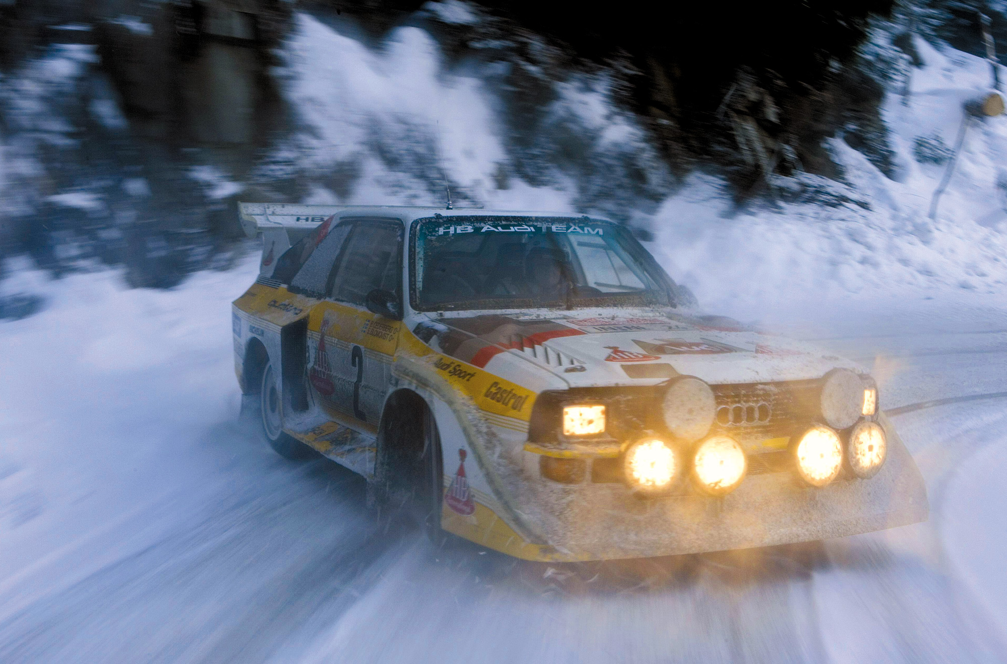 Audi Quattro Rally Snow , HD Wallpaper & Backgrounds