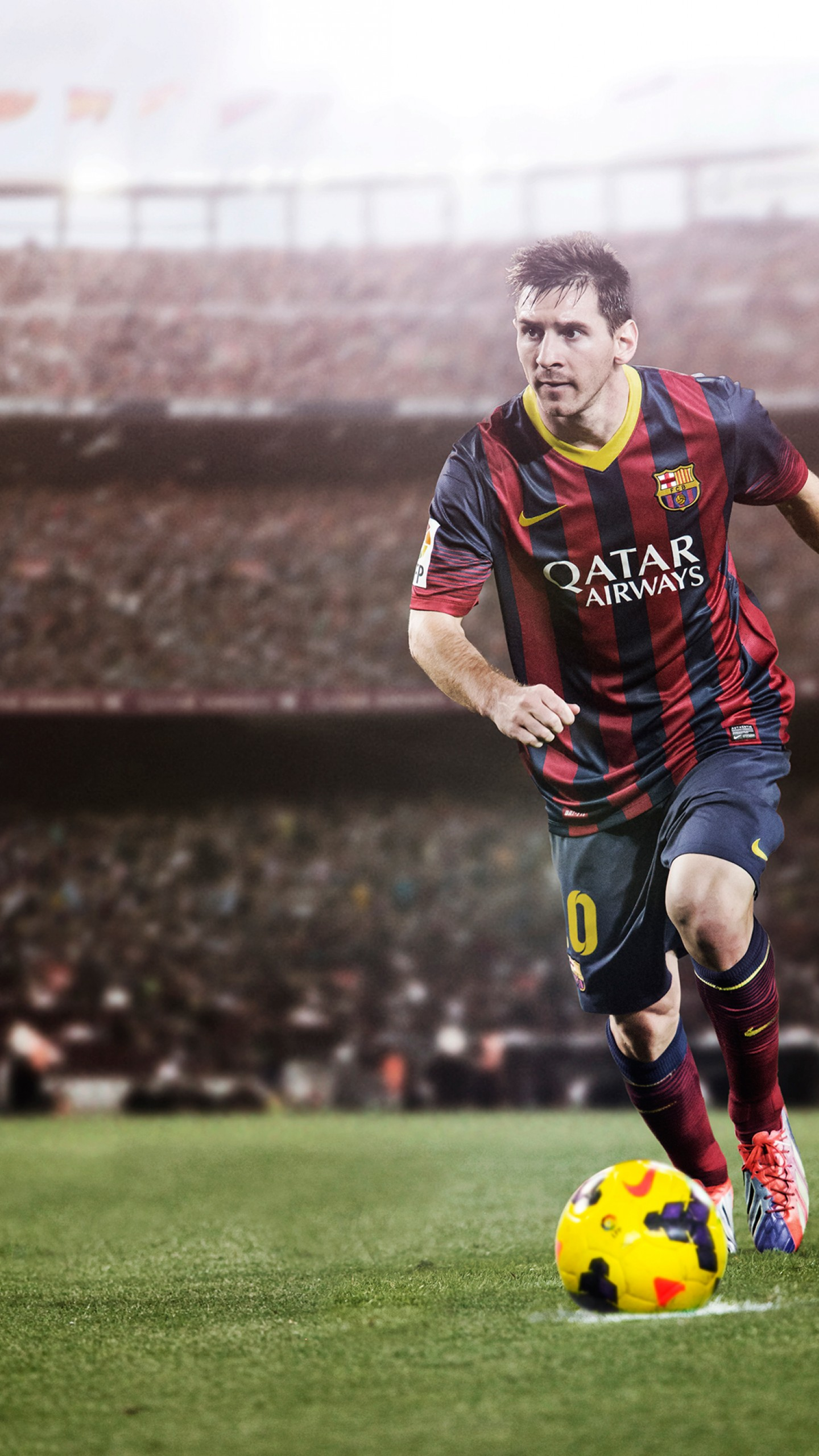 Lionel Messi Football Kicking , HD Wallpaper & Backgrounds