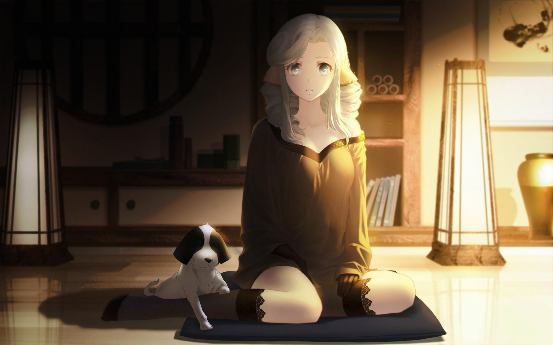 #gray Eyes, #cleavage, #utawarerumono, #anime, #dog, - Utawarerumono Itsuwari No Kamen Munechika , HD Wallpaper & Backgrounds