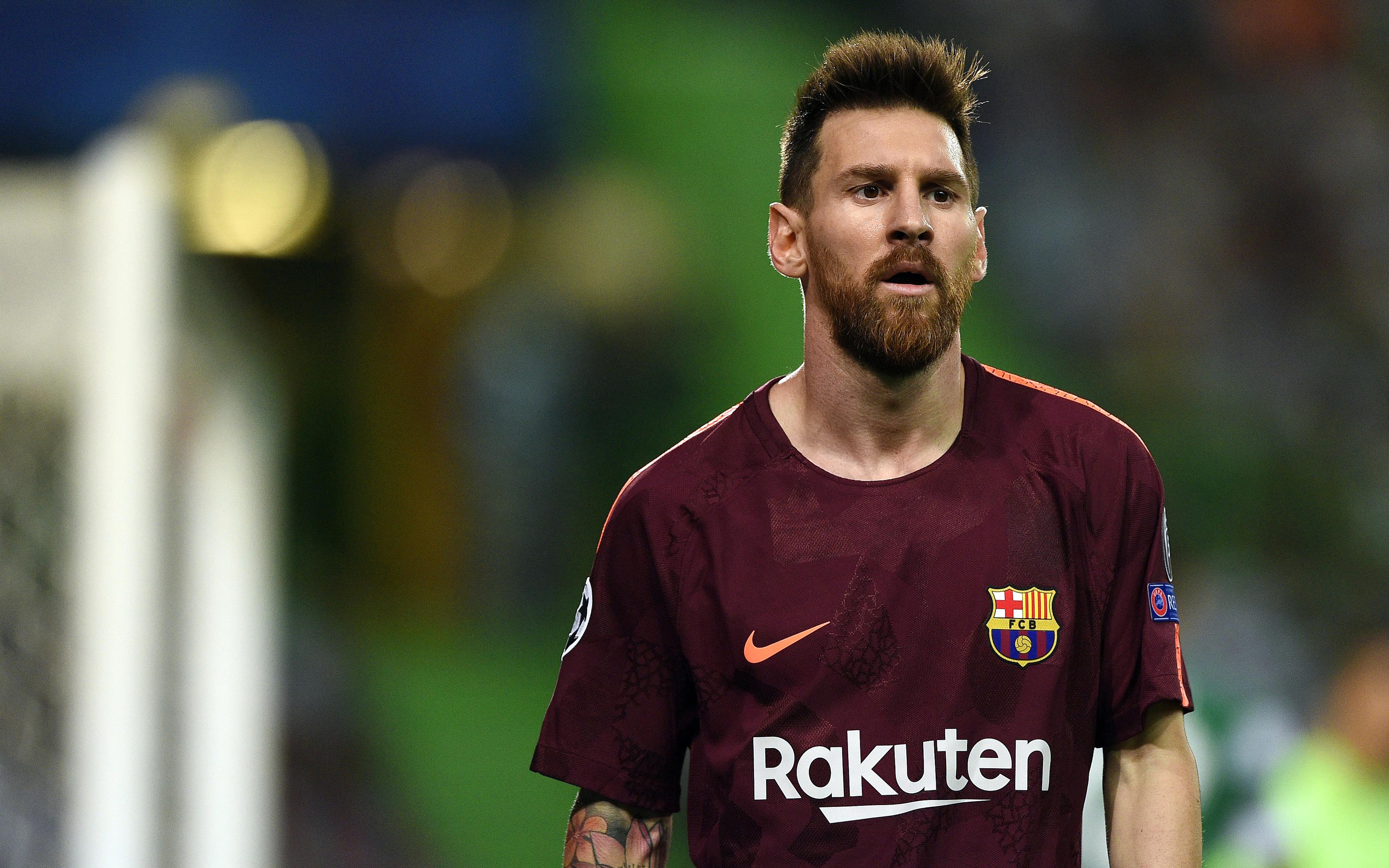 4k, Messi, 2017, Football Stars, Barca, Lionel Messi, - Messi 2017 , HD Wallpaper & Backgrounds