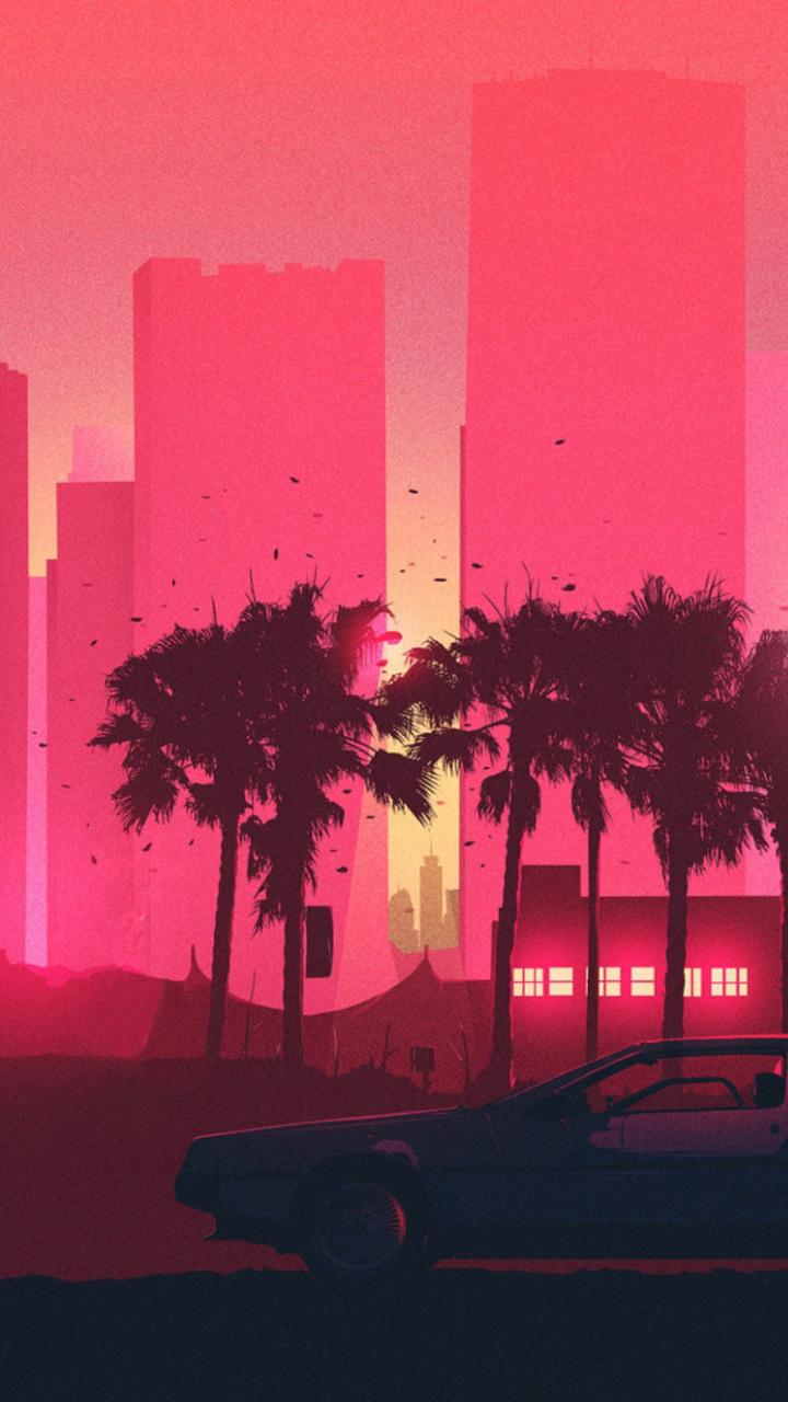 Crimson Skyline Zv Wallpaper Vintage Aesthetic Backgrounds Desktop 3263285 Hd Wallpaper Backgrounds Download