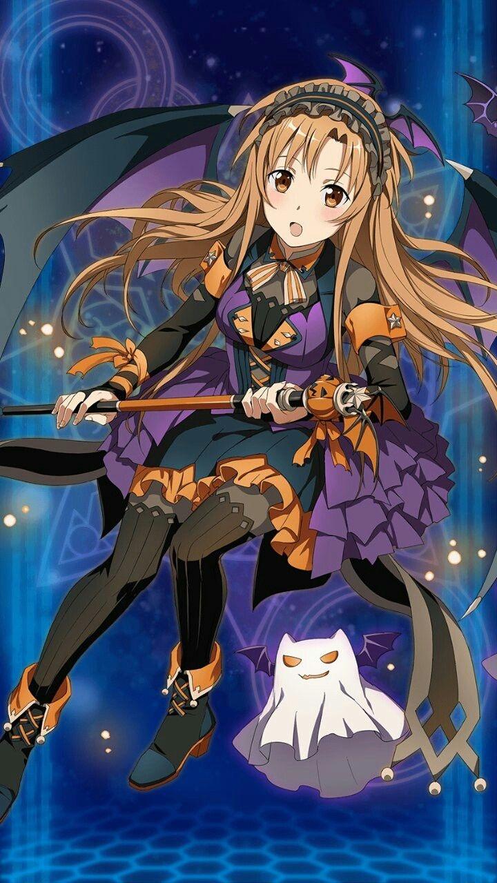 Awesome Sword Art Online Halloween Wallpaper Anime - Sword Art Online Asuna Halloween , HD Wallpaper & Backgrounds