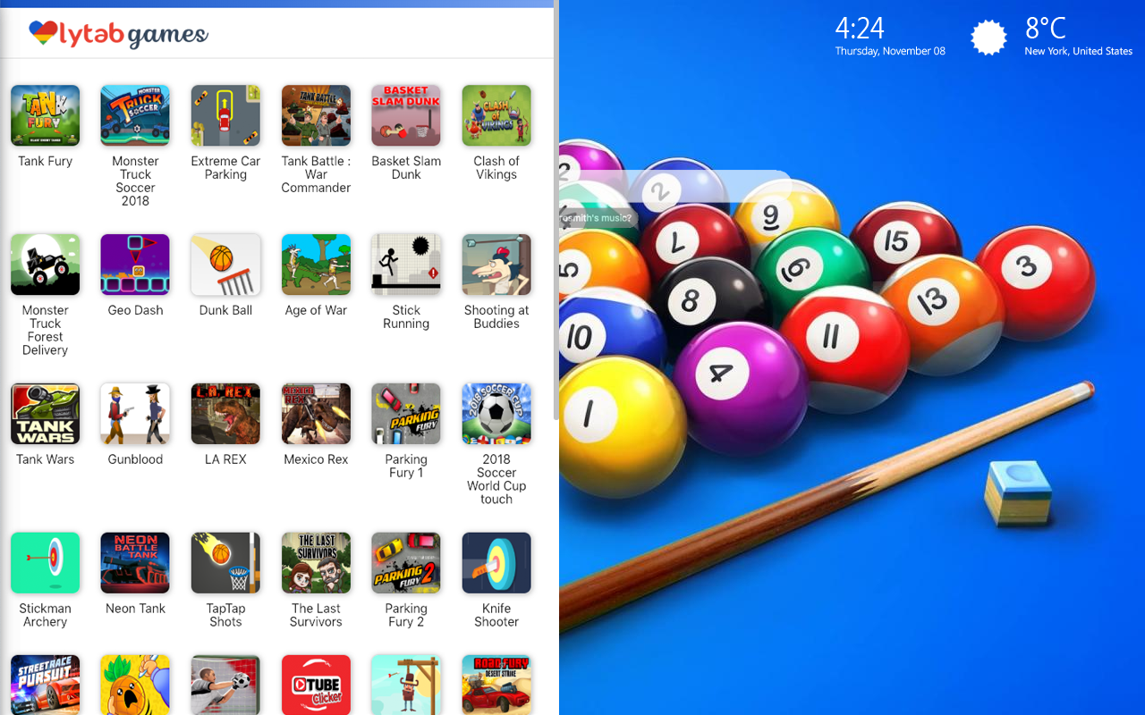 8 Ball Pool Game Hd Wallpaper New Tab Theme - Laptop Aesthetic Anime Desktop , HD Wallpaper & Backgrounds