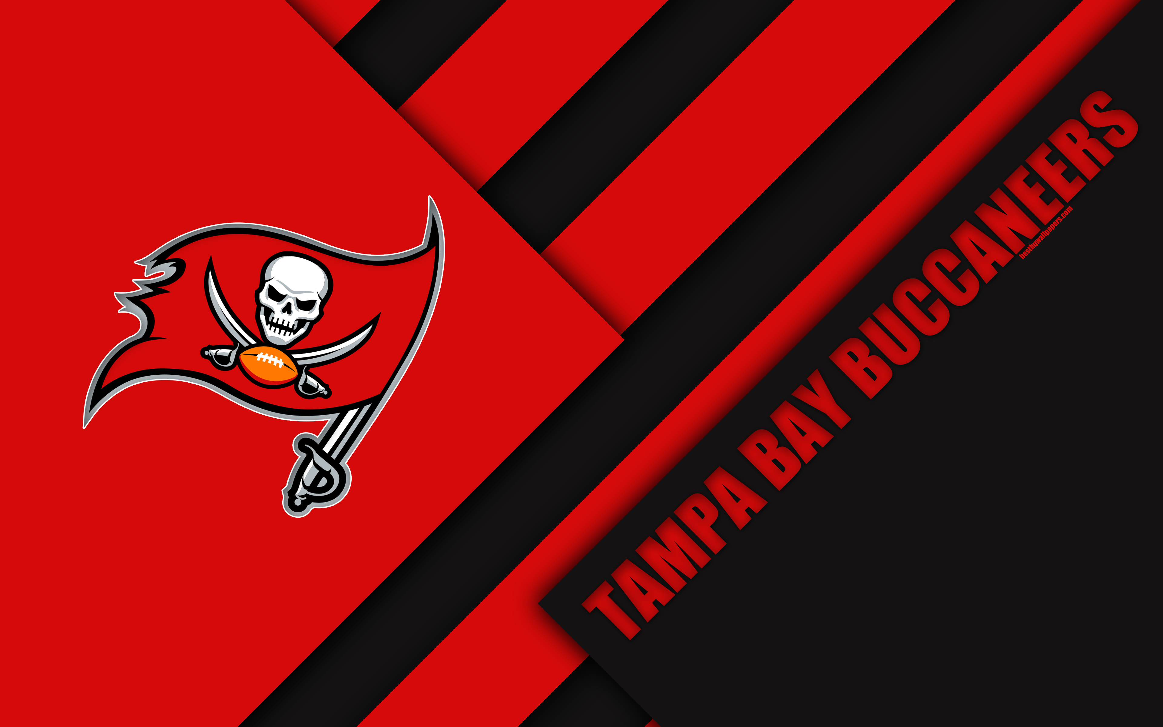Tampa Bay Buccaneers 4k Nfc South Logo Nfl Red Desktop Tampa Bay Buccaneers 3273934 Hd Wallpaper Backgrounds Download