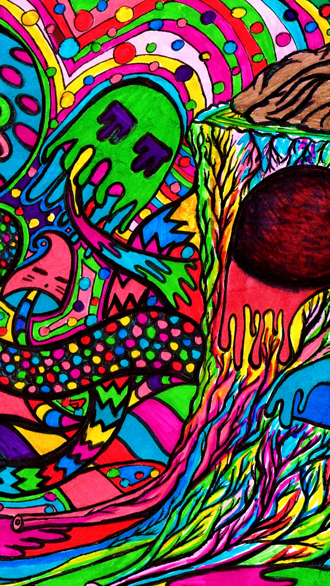 Trippy Weed Hd Wallpaper Android, Amazing Hd Wallpaper - Trippy Home Screen Weed , HD Wallpaper & Backgrounds