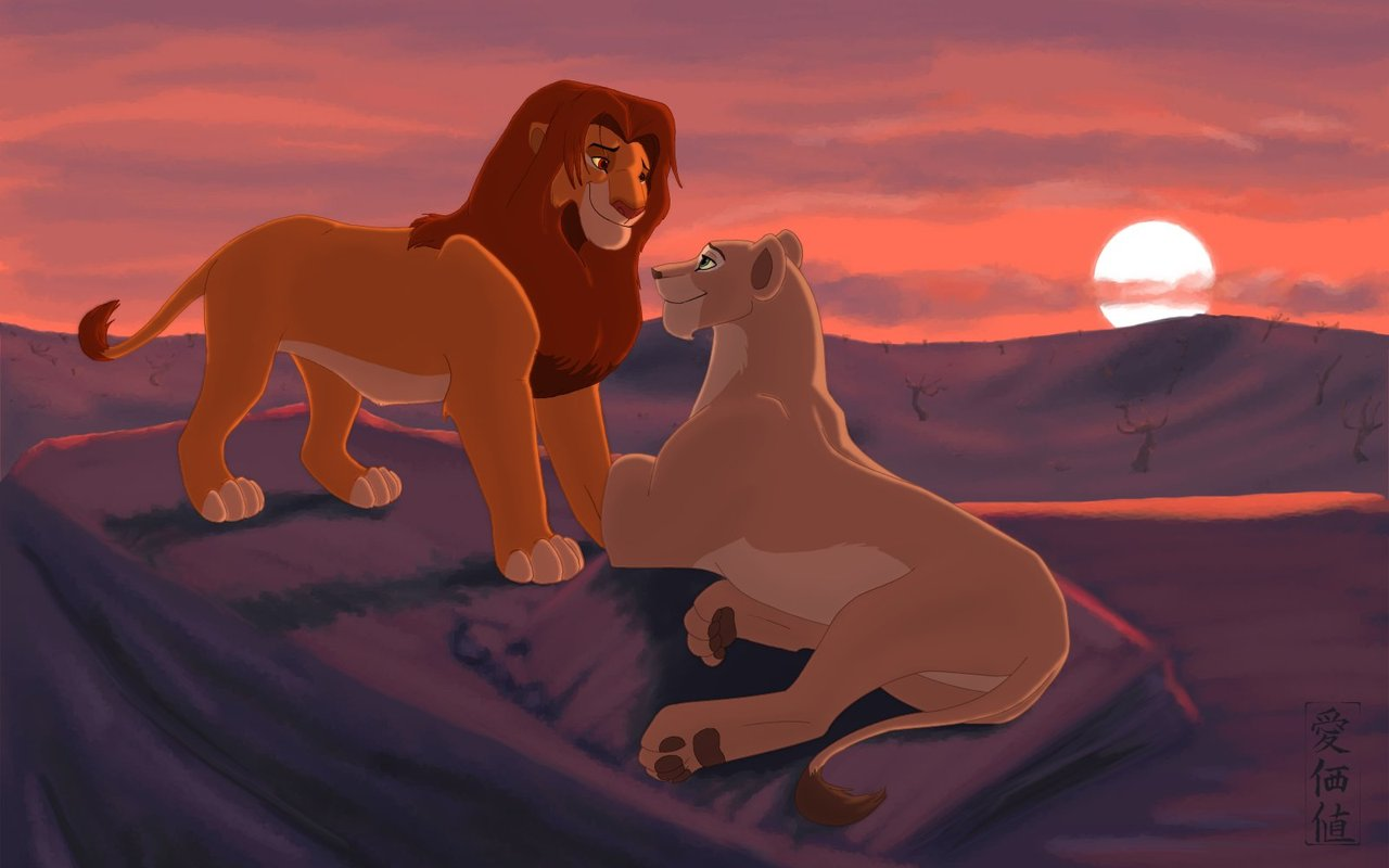 Dawn Of A New Life - Lion King Couple , HD Wallpaper & Backgrounds