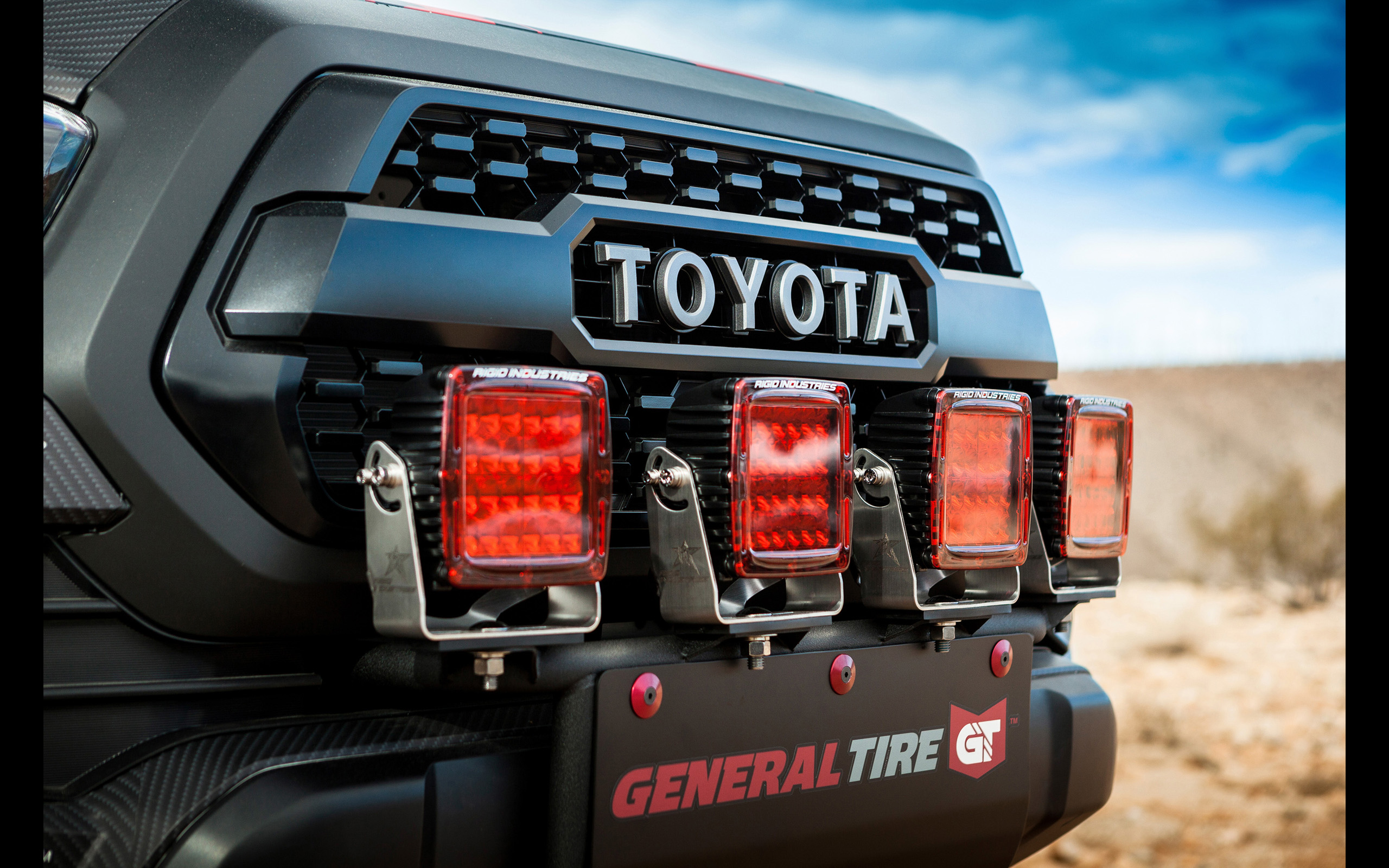 2017 Toyota Tacoma Rigid Industries , HD Wallpaper & Backgrounds