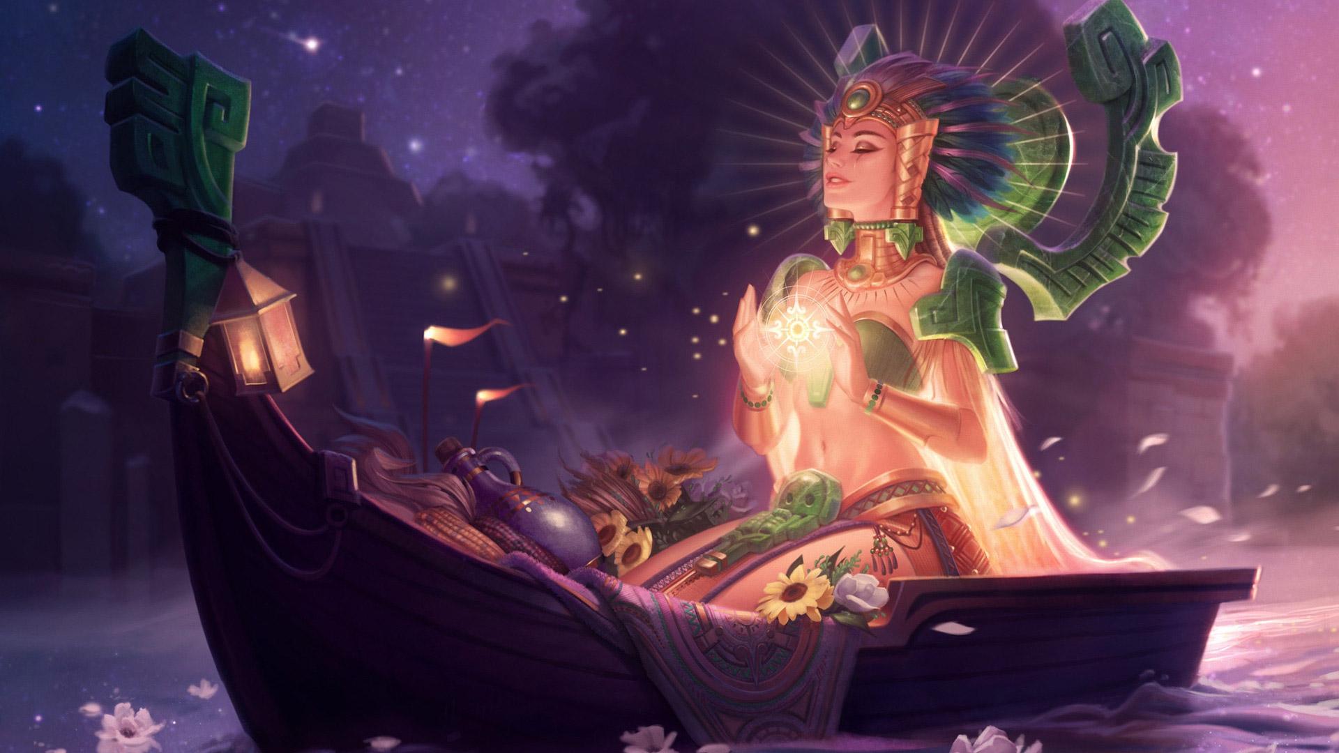 Free League Of Legends Wallpaper In - Sun Goddess Karma Splash Art , HD Wallpaper & Backgrounds