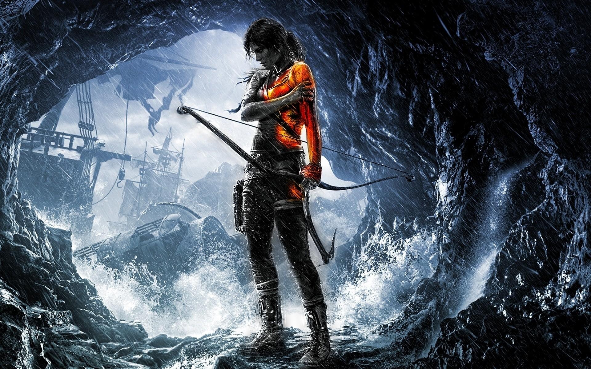 Wallpaper - Lara Croft Tomb Raider Gamer , HD Wallpaper & Backgrounds