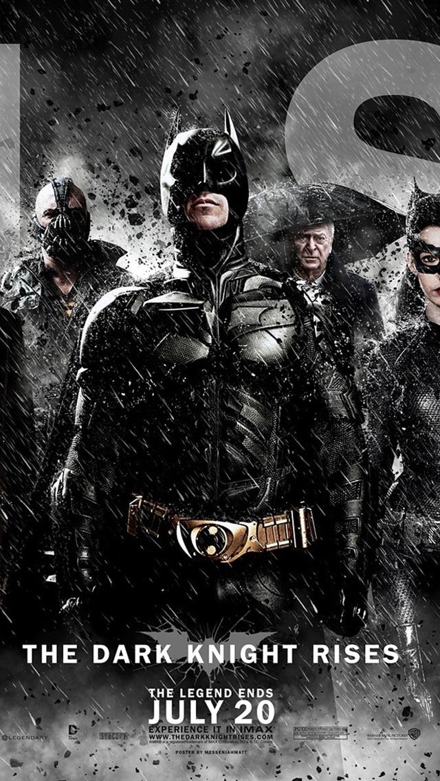 Iphone Wallpaper 2012 The Dark Knight Rises - Batman The Dark Knight Rises Poster , HD Wallpaper & Backgrounds