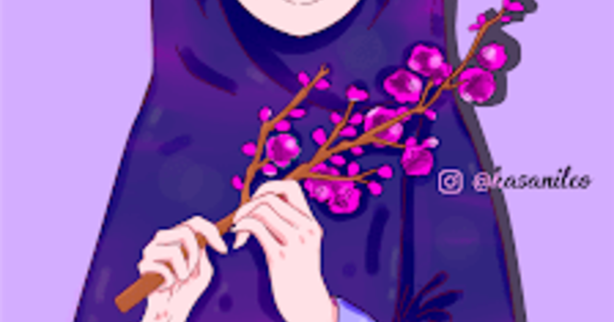 Download Gambar Kartun Muslimah Keren , HD Wallpaper & Backgrounds