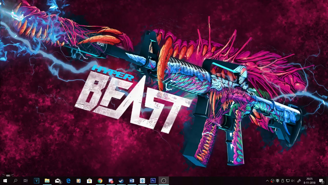 M4a1-s Hyper Beast - Cs Go Hyper Beast M4a1 S , HD Wallpaper & Backgrounds
