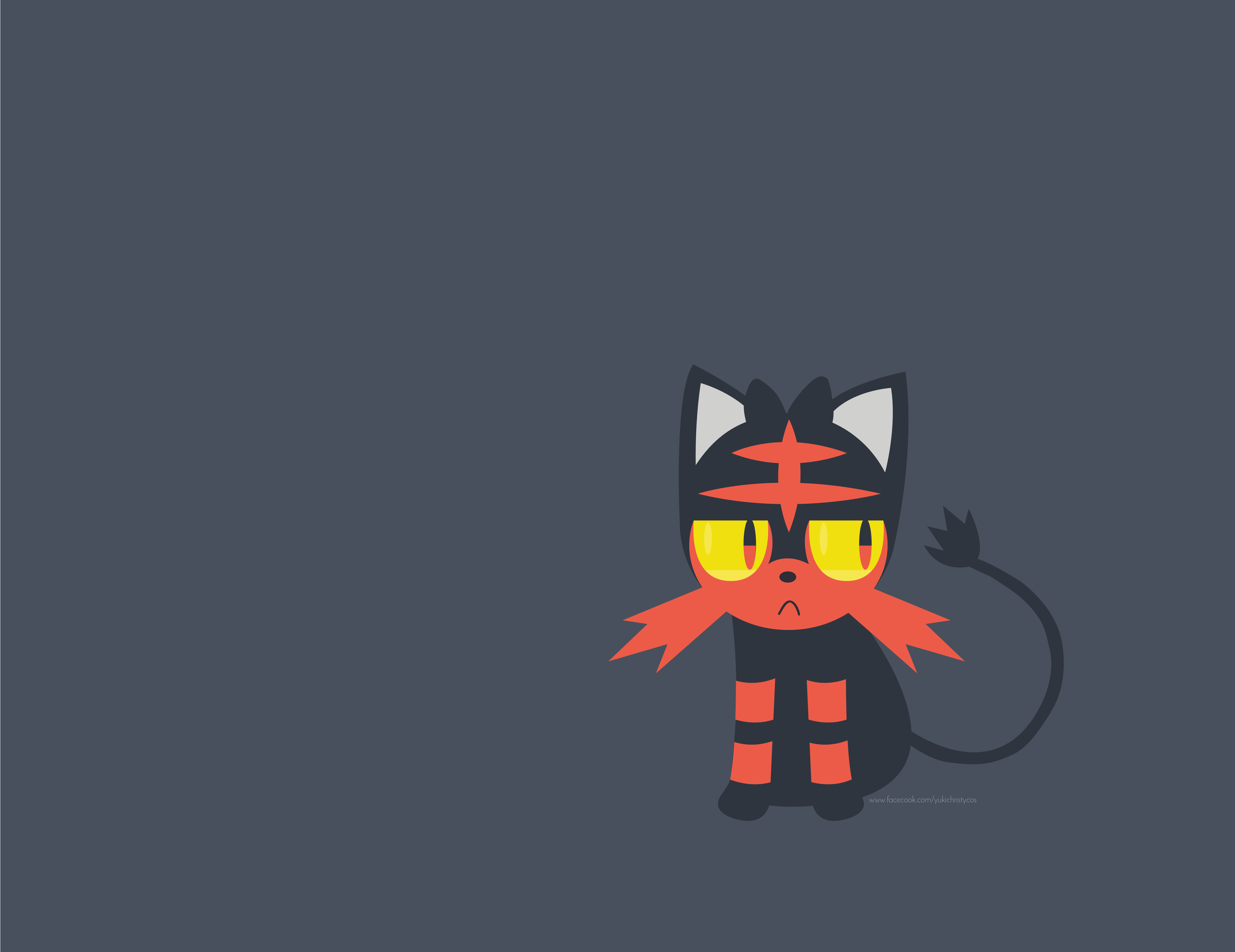 Imagepokemon Sun & Moon - Litten Fondo De Pantalla , HD Wallpaper & Backgrounds