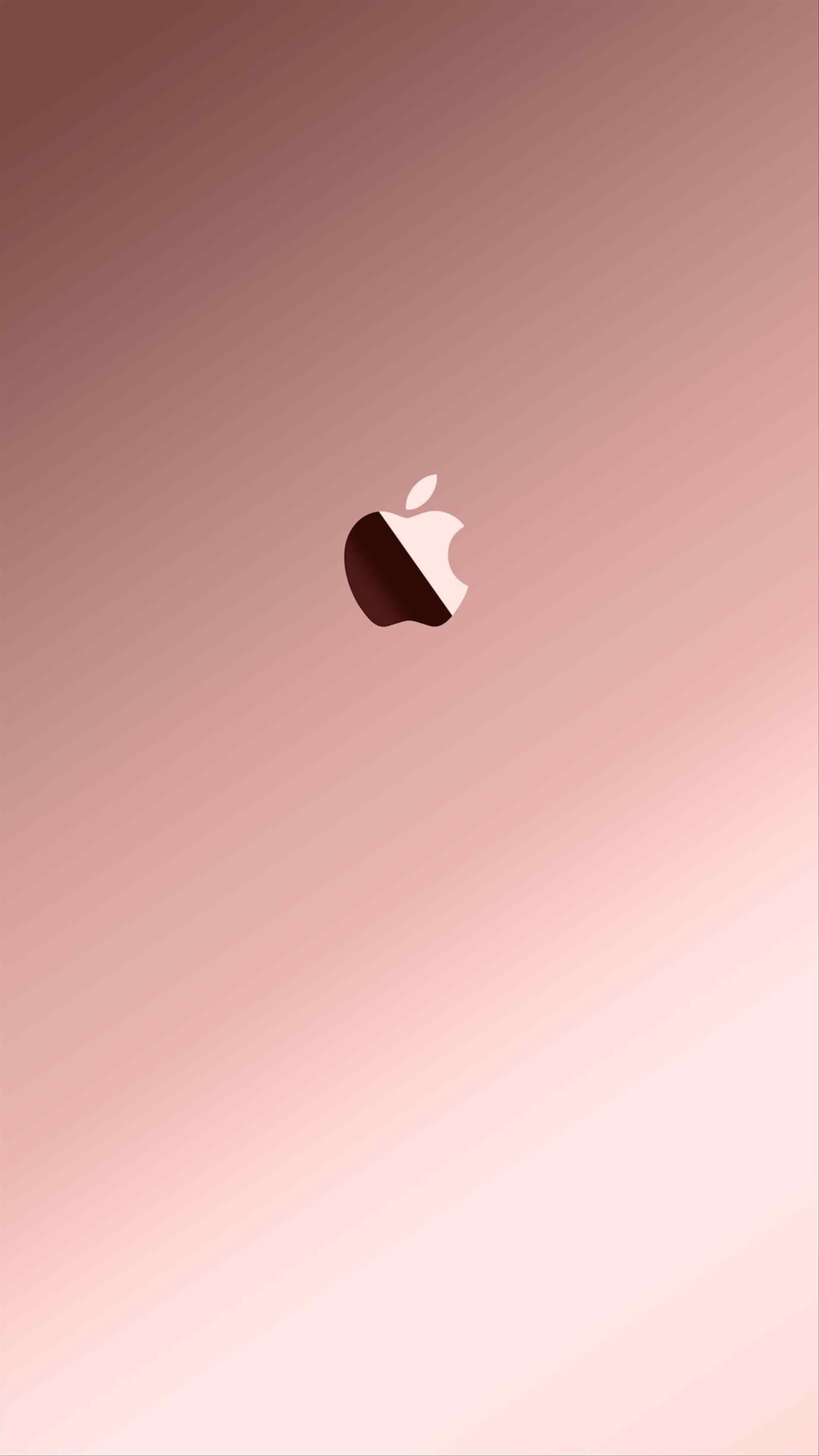Pink Apple Logo Rose Gold 334135 Hd Wallpaper Backgrounds